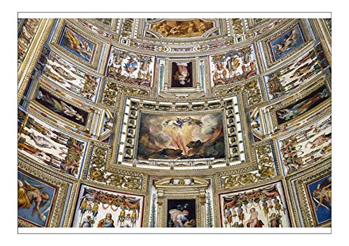 robertharding A1 Poster of Frescoes on The Ceiling of The Gallery of Maps, Vatican Museum, Rome, Lazio (19957059)