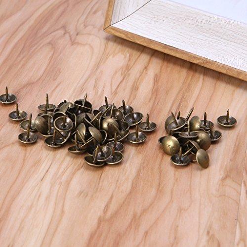 Karrychen 100 Piezas de tapicería de Bronce de latón Antiguo, joyería de uñas, Regalo, Caja de Vino, Caja, decoración de sofá