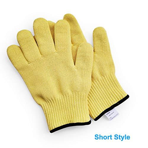 1 paio di guanti da lavoro a maglia in filato aramidico, protezione per il polso, resistenti al calore, tengono i piatti caldi, forno, muffe calde, gu