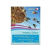 多目的色付きコピー用紙、20lb。、81/入れ物X 11で。、ブルー、束の500シート