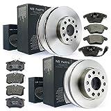 Disques de frein + plaquettes de frein avant + arrière NB PARTS Germany 10046704