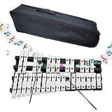 EiDevo Plegable Glockenspiel Xilófono,Instrumento de Percusión de Vibración Educativo Portátil Xilófono,Apto Para Niños y Principiantes Glockenspiel. (30 Notas)