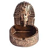 MagiDeal Figuras Egipcias Retro Cenicero de Cigarrillos Decoración del Hogar - Bronce, Individual