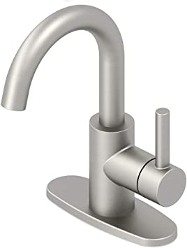 jacuzzi 67691w 6004 duncan brushed nickel pvd 1 handle 4 in centerset bathroom sink faucet