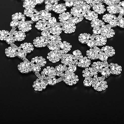 Cadena de cristal de diamantes de imitación, cadena de diamantes de imitación, temperamento noble, artesanía exquisita para coser ropa para decorar