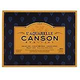 CANSON Héritage Aquarellblock rundumgeleimt, 31 x 41 cm, 20 Blatt, 300 g/m², Feinkorn