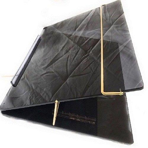 LUVYANSH Writing Table TOP Elevator Writing Desk Standard Size - (15 x 21 inch 7mm p.s Sheet Smoke Colour)