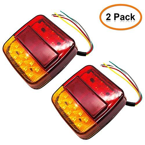 Piloto trasero de la caravana, Camión remolque Lemonbest 12V Piloto trasero de LED 26 Luces traseras Piloto Trasero, Camión, Remolque, Camión, Van Caravan (Pack of 2X)