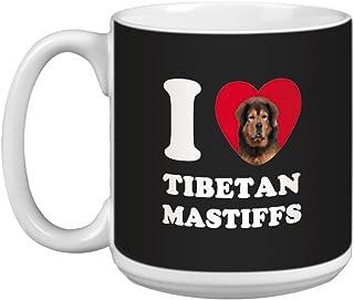 Tree Free Greetings XM29129 I Heart Tibetan Mastiffs Artful Jumbo Mug, 20-Ounce, Brown/Tan