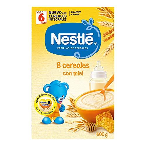 Nestlé - Papillas 8 Cereales Con Miel A Partir De 6 Meses...