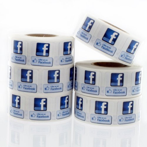 """Like Us on Facebook Labels 3/4""""x 3/4"""" LV-FB1 Photo #2"""