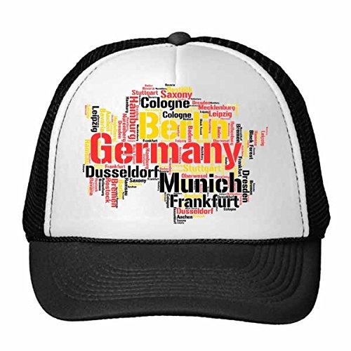 DIYthinker Alemania Ciudad Nombre del Estilo del Mapa ilustrado Modelo del Camionero Gorra de béisbol del Sombrero de Nylon Gorro Casquillo Fresco Ajustable niños