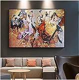 JRLDMD Posters para Pared Abstracto Banquete Dama Fiesta Carnaval Piano Lienzo Pintura Poster de la Edad Media Pasillo Decoracion del hogar Arte de pared60x90cm x1 Sin Marco