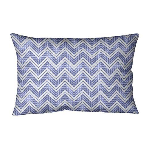Best Price ArtVerse Rhonda Cheval Reverse Classic Hand Drawn Chevrons Pillow (w/Removable Insert) - ...
