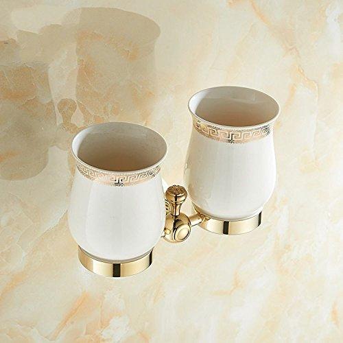 XBR le marbre double tasse frame, jade brosse à dents rack, savoure tasse, verre céramique marbre doré, double coupe section
