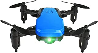 OUYAWEI Foldable Mini Drone 2.4Ghz Quadcopter Pocket RC Helicopter 1-Button Return Altitude Hold Quadcopter Gifts Toys Blue