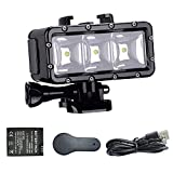 Suptig XShot Dimmable Waterproof (45m) LED Video Light for GoPro Cameras