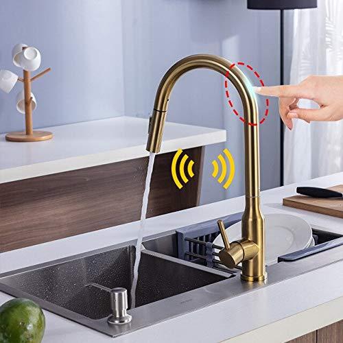 JYHW Fregadero de cocina inteligente Grifo automático con sensor táctil Extracción del grifo de resorte Mezclador de agua fría y caliente Sensor Grúa Grifos inductivos sensibles CHINA con sensor