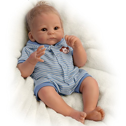 The Ashton-Drake Galleries Benjamin So Truly Real Lifelike & Realistic Weighted Newborn Baby Boy Doll 17-inches