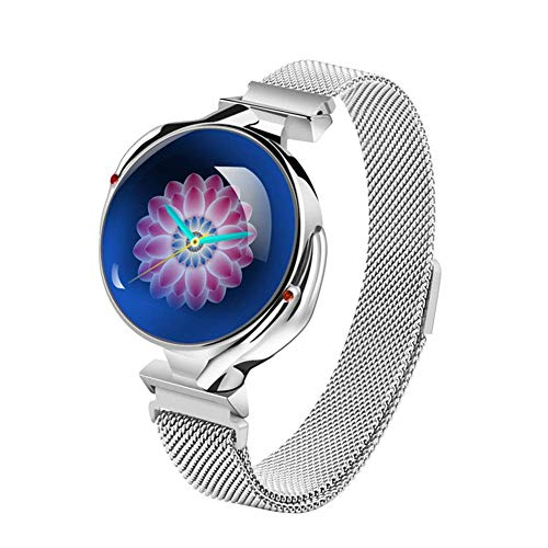 JIAJBG Reloj Elegante Z38 Moda, Mujeres de Presión Arterial Monitor de Ritmo Cardíaco Smartwatch Pulsera Fitness Registro de Sueño Muñequera Ip67 Impermeable Relojes Deportivos rega