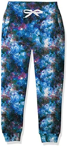 Teens Galaxy Graphics Sweatpants 14 16 Years Old Boys Blue Nebula Print Track Pants for Young product image