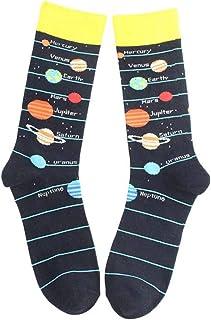 Mmnas, La novedad de la tripulación calcetines sistema solar cohete astronauta planeta harajuku medias de los hombres niño calcetines