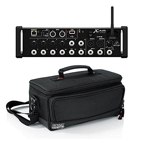 Behringer X Air XR12 12-Input Digital Mixer with 4 Programmable MIDAS Preamps for iPad/Android Tablets - Bundle With Gator Cases Padded Nylon Bag