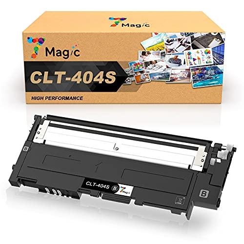 7Magic CLT-K404S Compatible Cartucho de Tóner de Repuesto para Samsung CLT-K404S CLT-404S para Samsung Xpress SL C430W C430 C480W C480FW C480FN C480 C482W C483W C432W C433W (1 Negro)