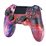 HUDB Wireless Controller Für PS4, Wireless Controller Für PS4/PS4 Slim/PS4 Pro, Doppelter Vibration, Audiofunktion Anti-Rutsch Griff Und Bluetooth Gamepad,S2