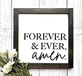 St234tyet Señal de madera Forever and Ever Amen, letrero de boda, decoración de boda, letrero de amor, decoración del hogar, regalo, decoración rústica del hogar, letrero de granja