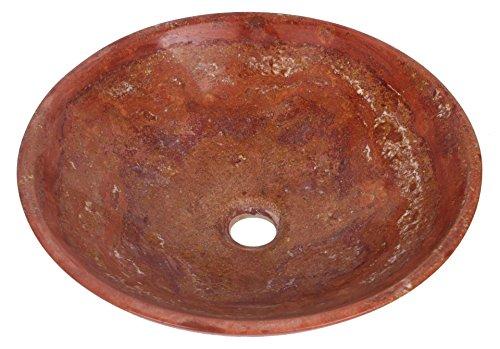 Travertine pietra Natura Autunno Rosso Arancione marmo bacino lavabo bagno 30cm x 11cm (b0065)
