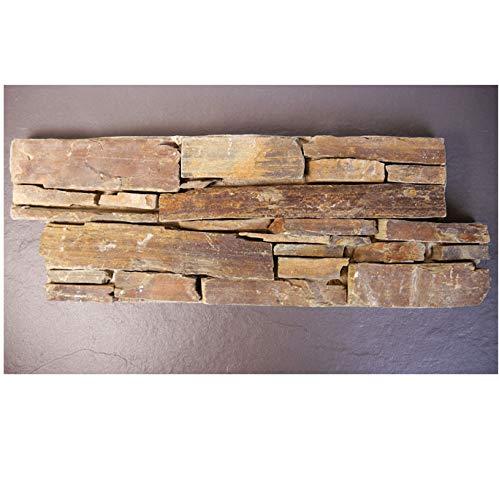 Brickstones, Mauerverblender, Wandverblender 60x20 cm, Naturstein auf Zement, multicolor MOES516, 1 Kart. = 0,44 qm