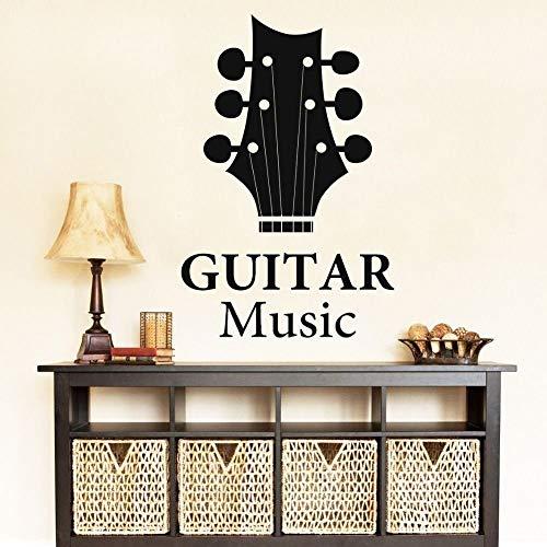 yaonuli Rock Enregistrement Studio Guitare Silhouette Stickers muraux Amateurs de Musique Maison et Magasin de Musique décoration 91x132 cm