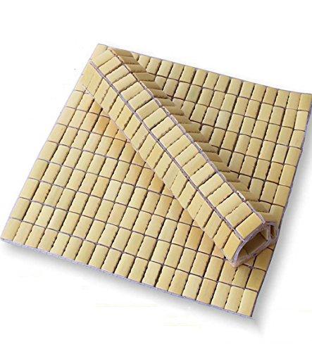Tapis Xiaolin d'été 2 pièces Mahjong Coussin Ordinateur Chaise Coussin Été Canapé Car Bambou Cooler Coussins de Chaise de Bureau de Maison (Taille : 45 * 45cm)