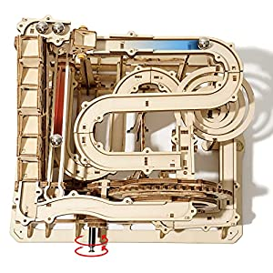 ROKR Mechanical 3D Wooden Puzzle Model Kit Craft Set Educational Toy Building Engineering Set Christmas/Birthday/Thanksgiving Day Gift for Boys Girl Kids Age 14+(LG501-Waterwheel Coaster) from Rokr