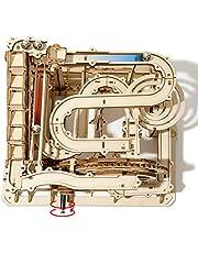 ROKR 立体パズル 立体ウッドパズル 木製パズル 3Dパズル コースターおもちゃ 立体パズル 3dパズル 大人向け 木製おもちゃ 知育玩具 木製パズル 手回し機械模型 手作りおもちゃ クリスマスプレゼント 誕生日プレゼント(水車)