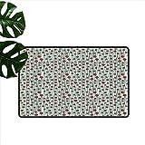 Anzhutwelve - Zerbino per interni in fibra di polipropilene, motivo geometrico del ventesimo secolo, Color08., 24'x35'(W60cm x L90cm)
