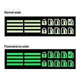 EGFheal - Adesivo fluorescente per finestrino auto, decorazione interna, per auto, finestre, finestre, occhiali, decorazione per auto, colore verde