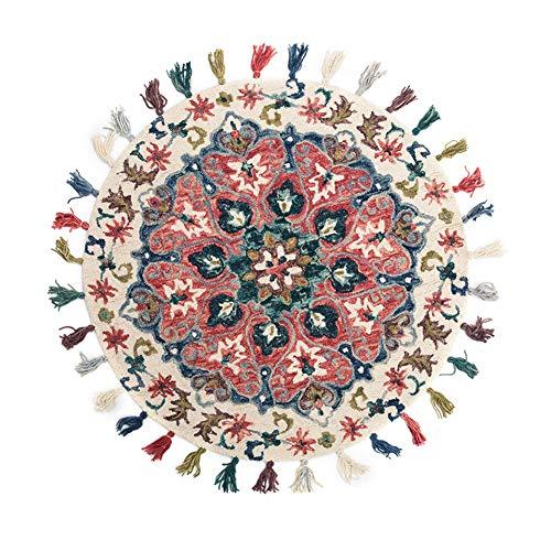 TDH Wollteppich Handgewebter Decke Kinderzimmer Teppich (größe : 90x90cm)