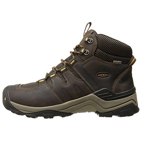 KEEN Herren Gypsum II Waterproof Mid Trekking- & Wanderstiefel, Braun (Coffee Bean/Bronze Mist Coffee Bean/Bronze Mist), 44.5 EU