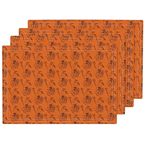 GuyIvan Tischsets Tischsets Mythologie Tischset, Griechisch Hermes Mercury Orange Braun Schal Tischsets Tischsets