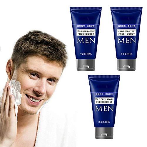 DFRY 1/3/5 Pcs Mens Bartentfernungscreme Haarentfernungscreme Rasiermesserlose Rasiercreme für weniger Rasur Schont die Haut und empfindliche Bereiche (3)