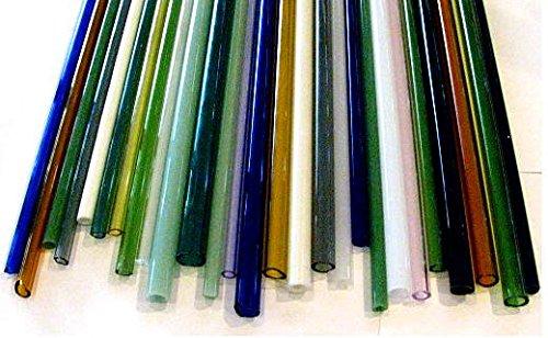 Devardi Glass Boro Tubing, COE 33, 10 Borosilicate Mixed Colors 12 Inch Tubes