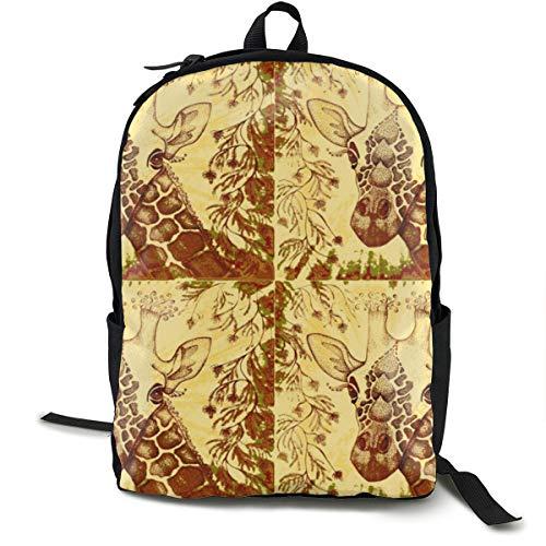 Klassischer Rucksack, Giraffe Zen Kalahari legere Schultasche, große Kapazität, Neuheit Laptop-Tasche für Teenager, Damen, Herren, Reisen, Wandern