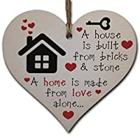 Handmade wooden heart shaped plaque. Packaged in transparent sleeve – perfect to give as a gift Size: Approx. 10 x 9.5 cm Includes length of hessian twine for hanging Made from high quality sustainable 3mm Plywood (PEFC Certified)