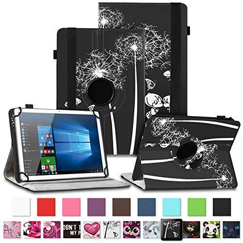 NAUC Tablet Hülle für Wortmann Terra PAD 1005 Tasche Schutzhülle Cover Case 360 Drehbar Kunst-Leder, Farben:Motiv 9