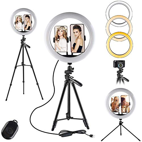 YDBET Selfie Ring Light with 100 Cm Extensible Tripod And Flexible Phone Bracket for Live Diffusion/Video Makeup Tutorial Youtube