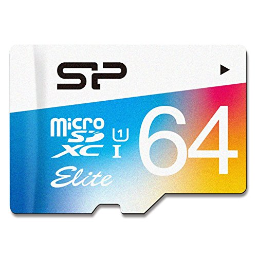 Silicon Power High Speed carte microSD avec adaptateur 64GB coloré