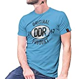 Original DDR Produkt 1962 Siegel Berlin Osten Ossi Plakette KFZ T Shirt #27443, Größe:XXL, Farbe:Hellblau
