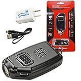 SureFire Sidekick 300 Lumen Rechargeable LED Keychain Flashlight Bundle with a USB Wall Adapter